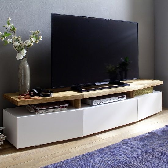 Remarkable New Modern Oak TV Stands For Best 25 Wooden Tv Stands Ideas On Pinterest Mounted Tv Decor (View 34 of 50)