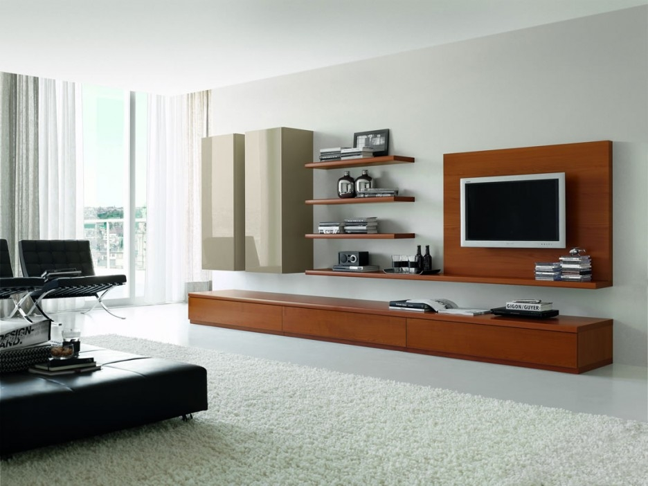 Remarkable New Modular TV Cabinets Regarding Alluring Modern Entertainment Unit Presenting Compact Wooden Wall (Image 39 of 50)