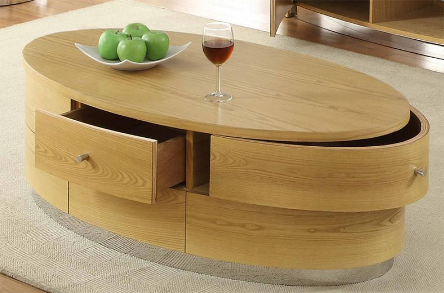 Remarkable New Oval Glass And Wood Coffee Tables For Modern Oval Coffee Table (Image 38 of 50)
