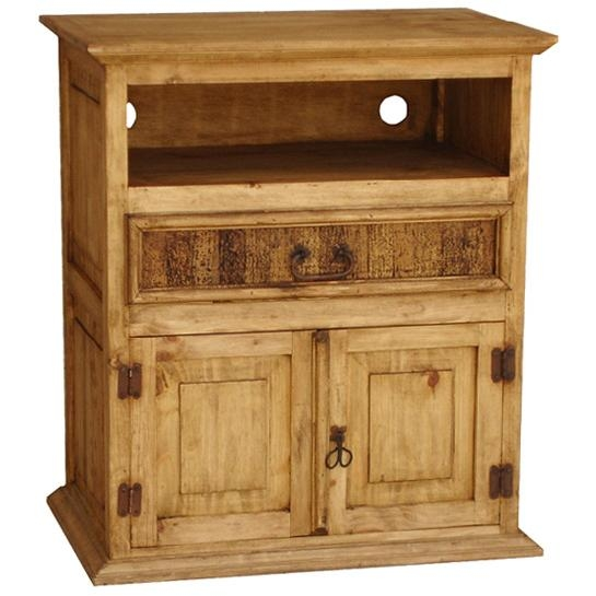 Remarkable New Pine TV Stands Pertaining To Rustic Pine Collection Tall Tv Stand W Drawer Com (Image 41 of 50)
