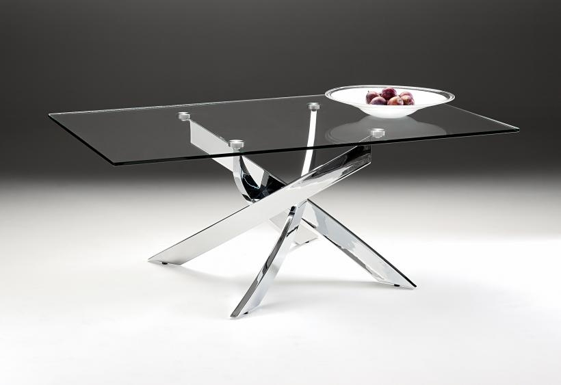 Remarkable New Rectangle Glass Chrome Coffee Tables Inside Rectangular Glass Coffee Table (Image 42 of 50)
