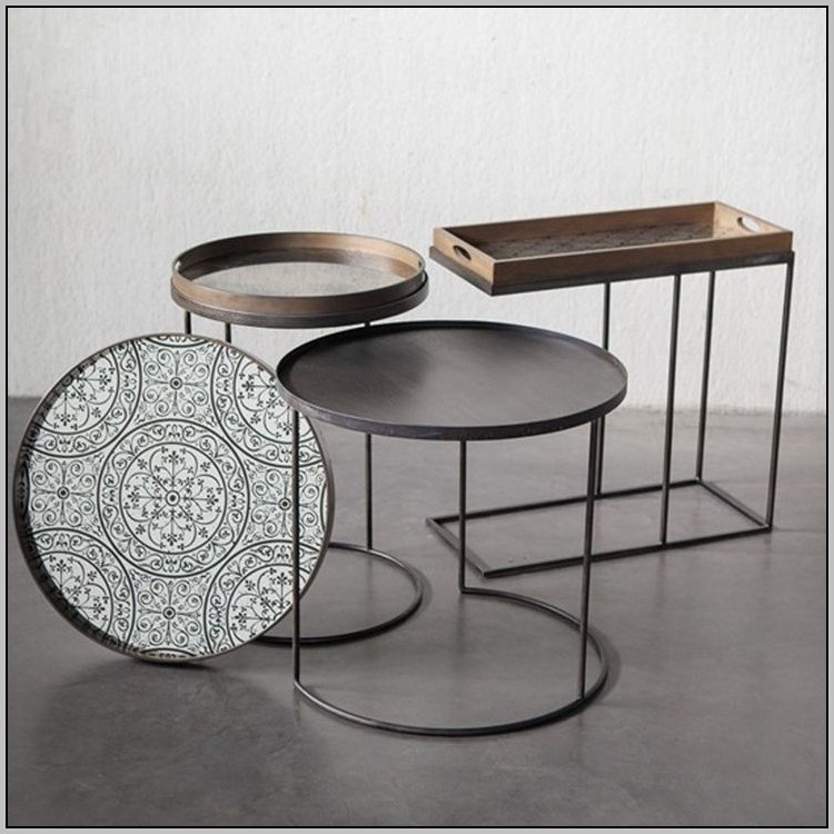 Remarkable New Round Tray Coffee Tables With Regard To Awesome Round Tray Coffee Table With Coffee Tables Design Brass (Image 40 of 50)