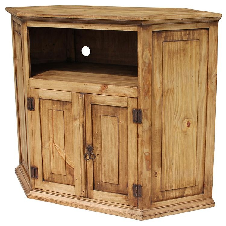 Remarkable New Rustic Corner TV Stands Regarding Rustic Pine Collection Corner Tv Stand Com (View 4 of 50)