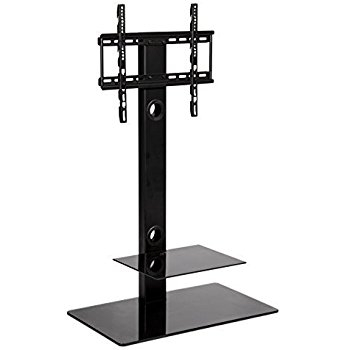 Remarkable New White Cantilever TV Stands With Regard To Cantilever Tv Stand Mmt Black Glass For 32 Inch To Amazonco (View 48 of 50)