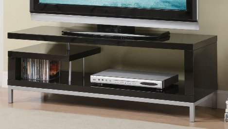 Remarkable Popular Black Modern TV Stands Pertaining To The Modern Tv Stand In Black High Gloss Finish Tv Stand Review (Image 36 of 50)