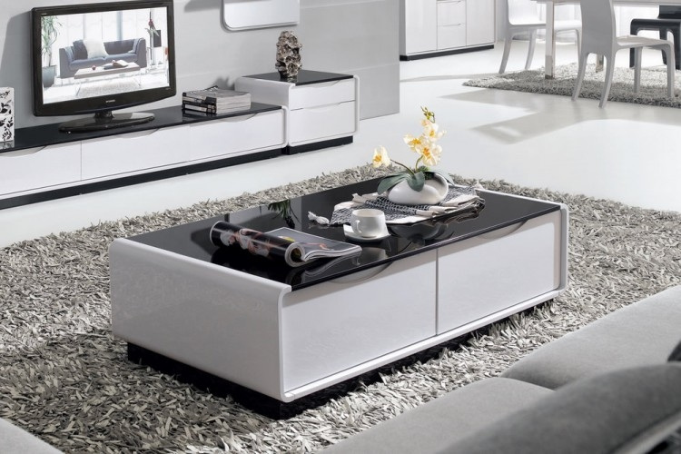 Remarkable Popular Dark Glass Coffee Tables With Regard To Presta 13m Black Glass Coffee Table High Gloss (View 37 of 50)