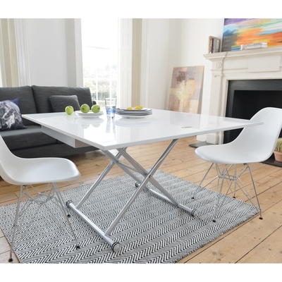Remarkable Popular Extendable Coffee Tables In Rise Extending Coffee Table White Dwell (Image 36 of 40)