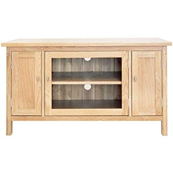 Remarkable Popular Glass Front TV Stands In Balmain Tv Stand Glass Front 2 Cupboards Oak Amazoncouk (Image 40 of 50)