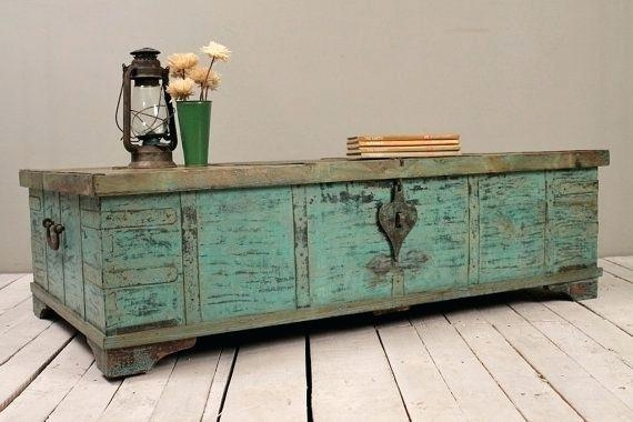 Remarkable Popular Indian Coffee Tables Inside Coffee Table Coffee Table Turquoise Green Reclaimed Salvaged (Image 32 of 40)