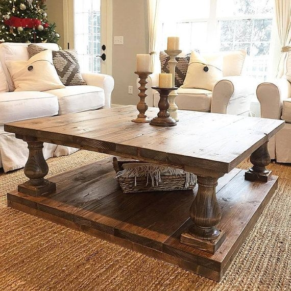 Remarkable Popular Large Low Rustic Coffee Tables Intended For Best 25 Large Square Coffee Table Ideas On Pinterest Large (View 9 of 50)