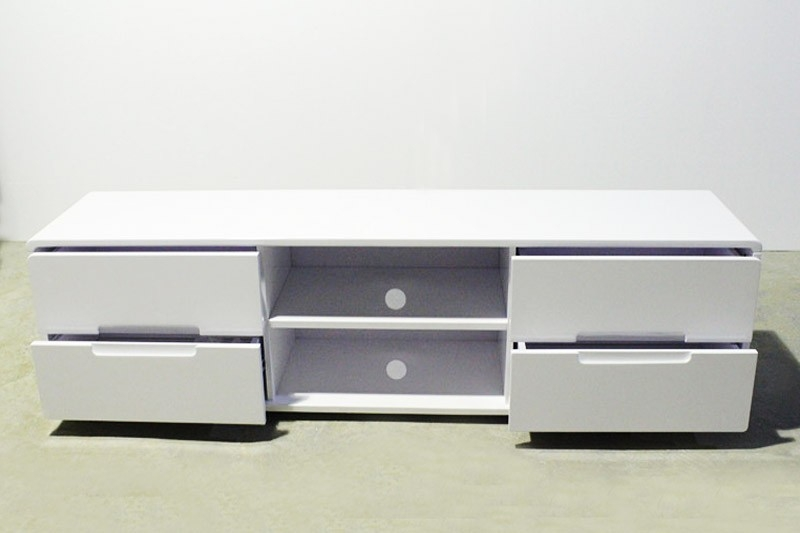 Remarkable Popular Long White TV Cabinets Within White Black Glass Stand Tv Lcd Units Cabinet 18 Metre (Image 41 of 50)