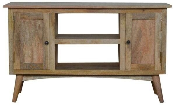 Remarkable Popular Mango Wood TV Stands In Mango Wood Tv Stand With 2 Doors And 2 Shelves (Image 42 of 50)
