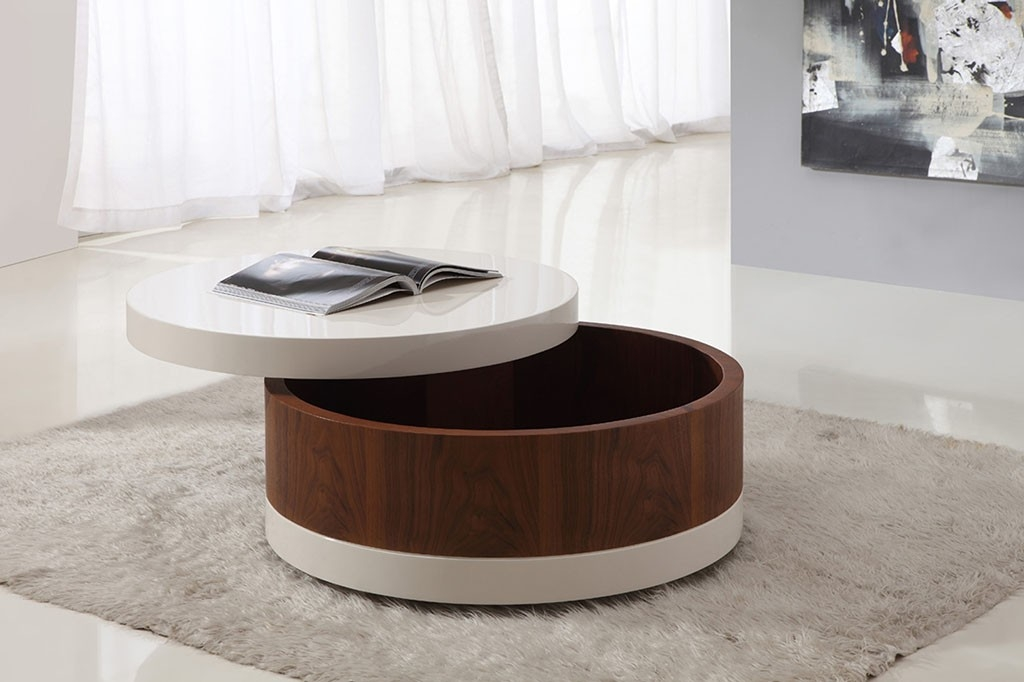 Remarkable Popular Round High Gloss Coffee Tables Throughout Round High Gloss Coffee Table (View 48 of 50)