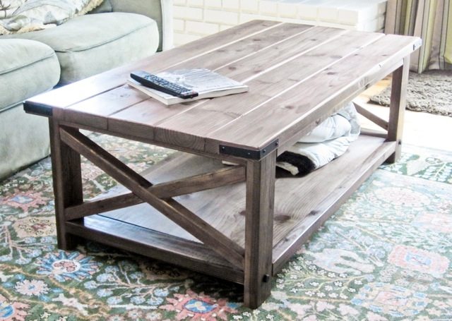 Remarkable Popular Rustic Style Coffee Tables In Ana White Rustic X Coffee Table Diy Projects (View 4 of 50)