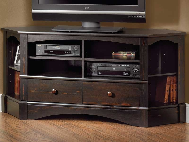 Remarkable Popular TV Stands For Corners With Black Corner Tv Stand (Image 35 of 50)