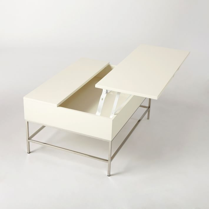 Remarkable Popular White Coffee Tables With Storage For Lacquer Storage Coffee Table West Elm (View 29 of 50)