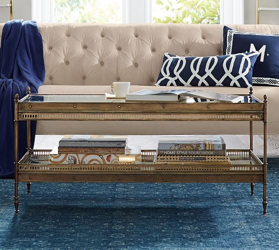 Remarkable Preferred Antique Glass Pottery Barn Coffee Tables With Colette Coffee Table Pottery Barn (View 17 of 50)