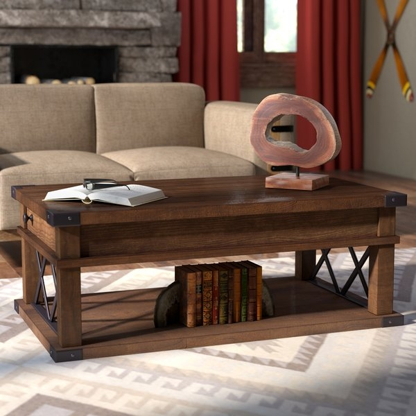 Remarkable Preferred Coffee Table With Raised Top For Loon Peak Fusillade Coffee Table With Lift Top Reviews Wayfair (Image 41 of 50)