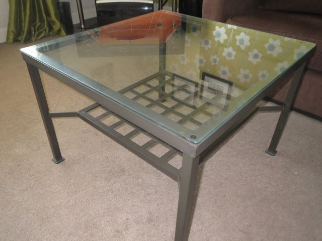 Remarkable Preferred Glass And Black Metal Coffee Table Pertaining To More Modern Style Ikea Glass Coffee Table Dining Room Chairs (Image 35 of 50)