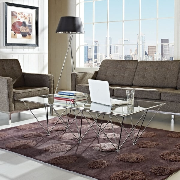 Remarkable Preferred Rectangle Glass Coffee Table Intended For Prism Rectangular Glass Coffee Table Free Shipping Today (View 41 of 50)