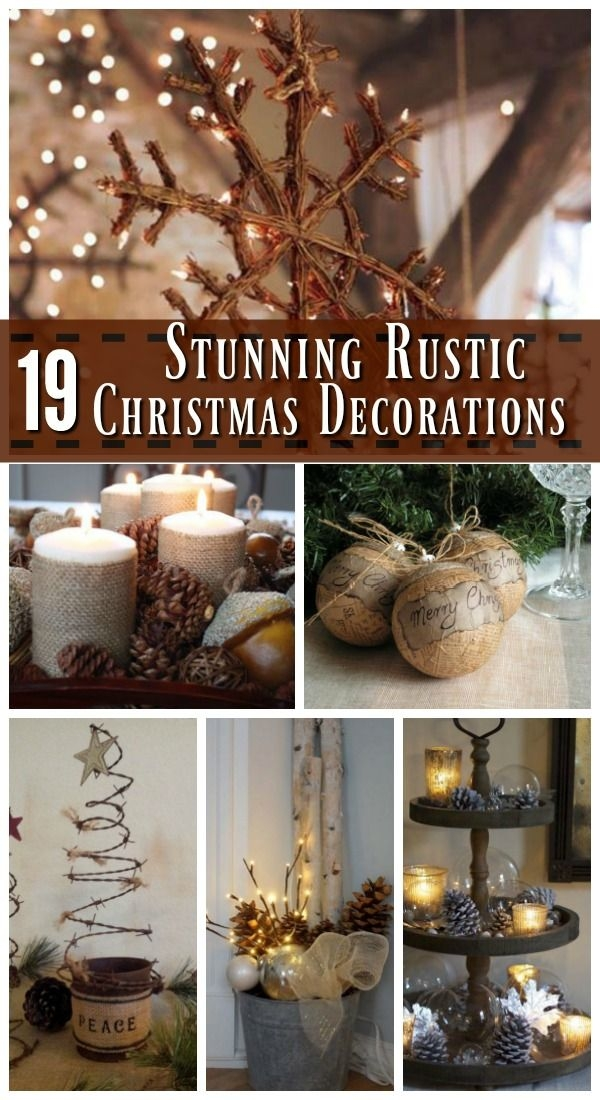 Remarkable Preferred Rustic Christmas Coffee Table Decors Pertaining To Best 25 Rustic Christmas Ideas On Pinterest Rustic Christmas (Image 41 of 50)