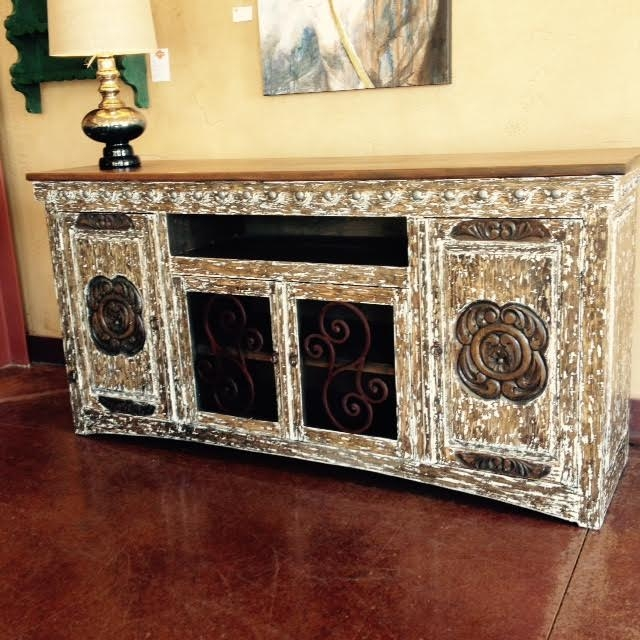 Remarkable Preferred Rustic White TV Stands With Rustic Tv Stand Rustic Buffet Table In 6 Color Choices (View 44 of 50)