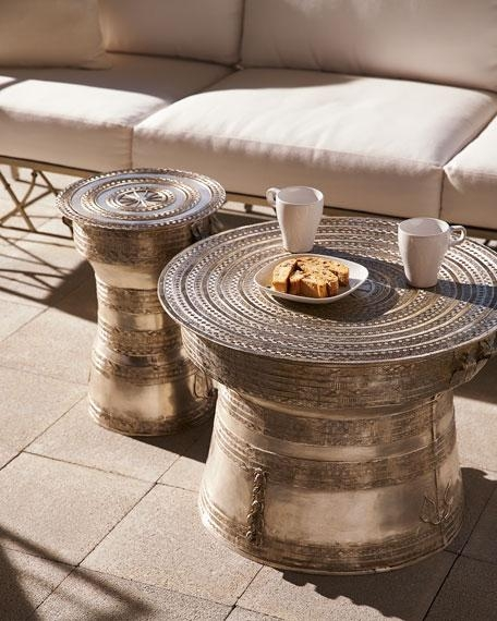 Remarkable Preferred Silver Drum Coffee Tables Within Round Gold Drum Table Products Bookmarks Design Inspiration (Image 39 of 50)