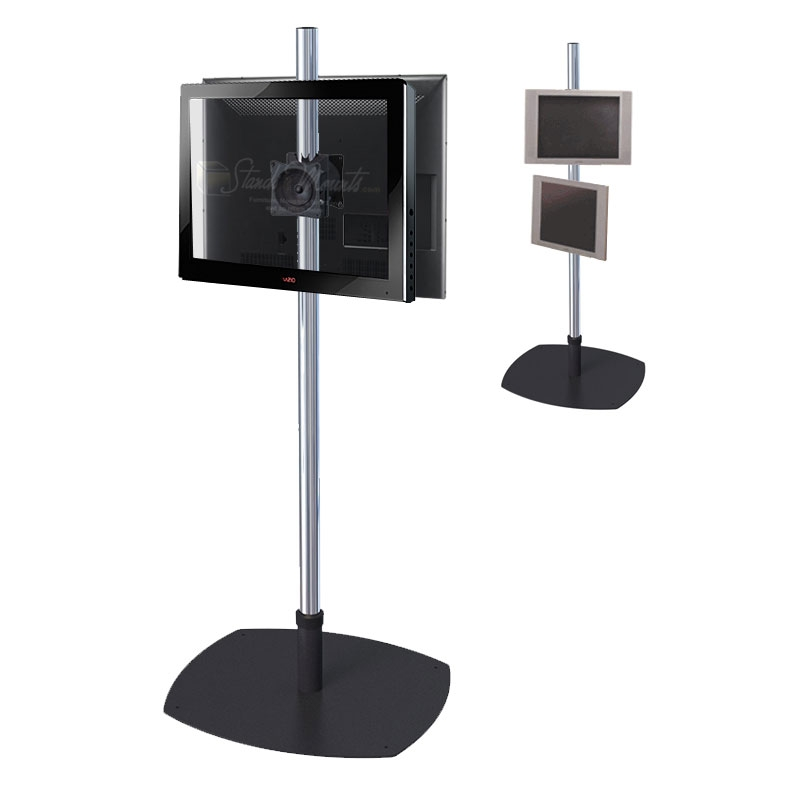 Remarkable Preferred Single TV Stands Within Premier Mounts Single Pole Floor Stand For Dual 17 40 Inch Screens (View 8 of 50)