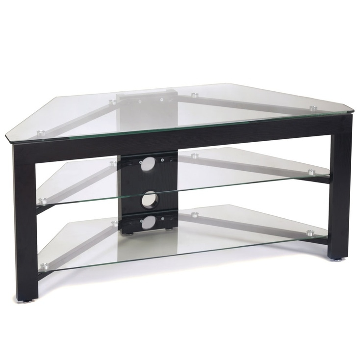 Remarkable Preferred Smoked Glass TV Stands In 22 Best Black Corner Tv Stand Images On Pinterest Corner Tv (Image 36 of 50)