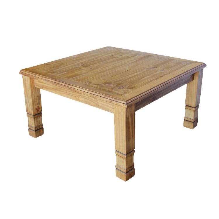 Remarkable Preferred Square Pine Coffee Tables Inside Rustic Pine Collection Square Julio Coffee Tablewithout Wormwood (Image 42 of 50)