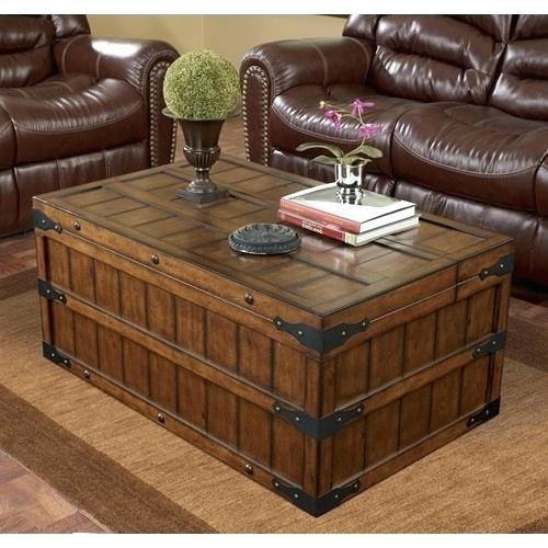 Remarkable Preferred Trunk Chest Coffee Tables Intended For Coffee Table Rustic Chest Coffee Table Coffetablelarge Trunk (View 36 of 50)