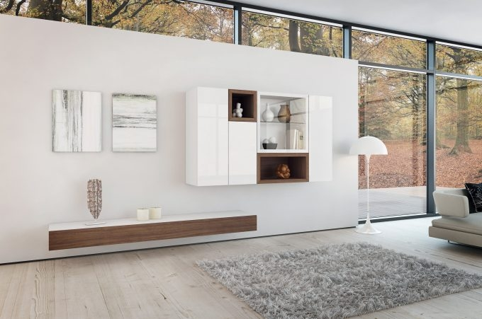 Remarkable Preferred White Wall Mounted TV Stands Within Ideas Modern Living Room Storage Design With Nice Wall Mounted Tv (Image 42 of 50)