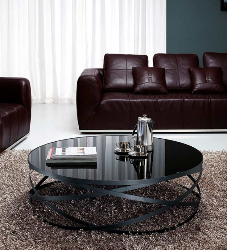 Remarkable Premium Black Circle Coffee Tables Regarding Best 25 Black Glass Coffee Table Ideas That You Will Like On (Image 44 of 50)