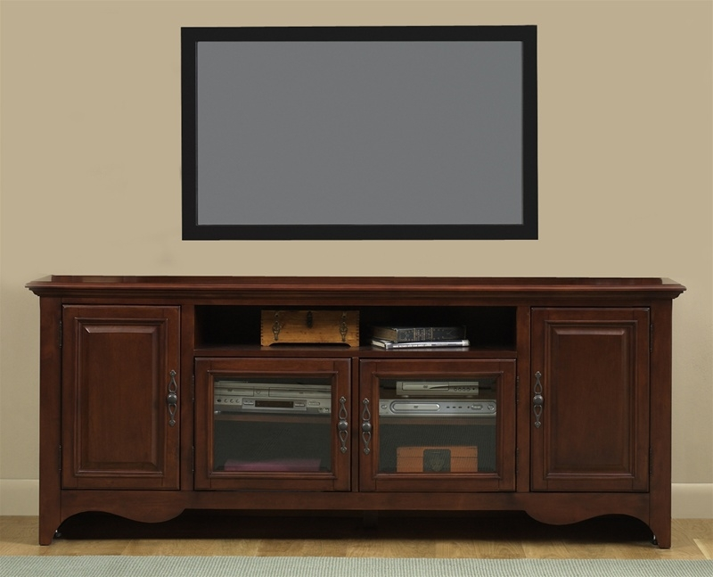 Remarkable Premium Cherry TV Stands Throughout New Generation 75 Inch Tv Stand In Traditional Cherry Finish (Image 40 of 50)