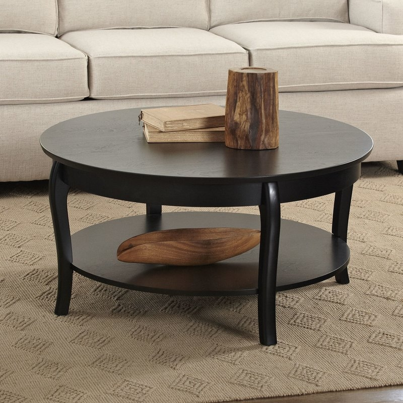 Remarkable Premium Clock Coffee Tables Round Shaped For Find The Best Coffee Tables Wayfair (Image 43 of 50)