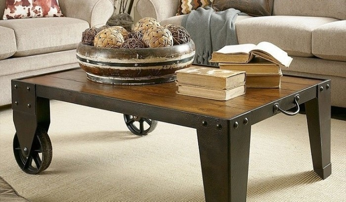 Remarkable Premium Coffee Tables With Wheels With Regard To Coffee Table Beautiful Round Coffee Table With Wheels Coffee (View 23 of 40)