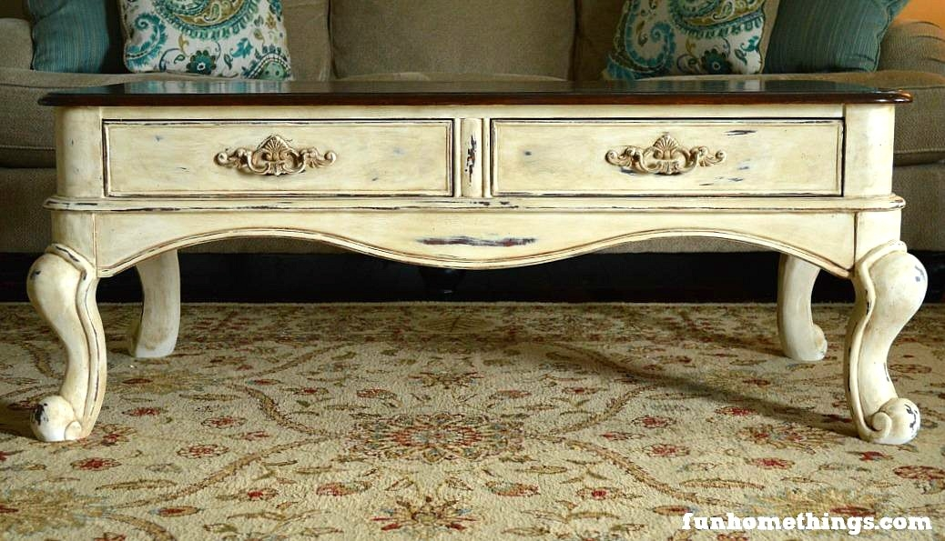 Remarkable Premium Country Coffee Tables Within Katie At Fun Home Things Shares Her French Country Coffee Table (Image 40 of 50)