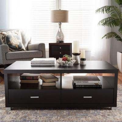 Remarkable Premium Dark Brown Coffee Tables With Regard To Dark Brown Wood Coffee Table Accent Tables Living Room (Image 42 of 50)