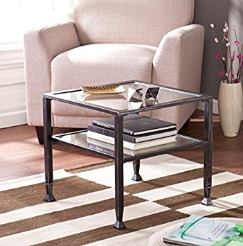 Remarkable Premium Glass And Black Metal Coffee Table Throughout Amazon Wildon Home Small Contemporary Metal And Glass Top (Image 37 of 50)