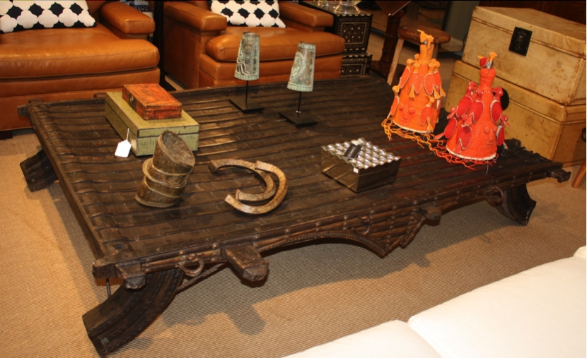Remarkable Premium Indian Coffee Tables Within Ox Cart Old Wooden Table Repurposed Antique Ox Cart Coffee Table (Image 33 of 40)