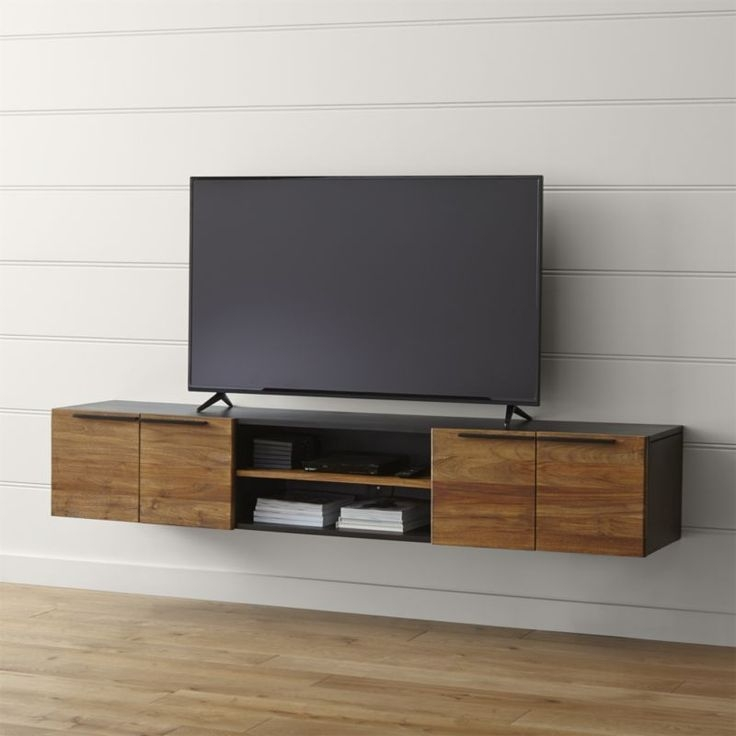 Remarkable Premium Low Long TV Stands In Best 25 Floating Tv Stand Ideas On Pinterest Tv Wall Shelves (Image 43 of 50)