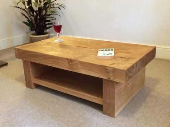 Remarkable Premium Oak Coffee Table With Shelf Within Brilliant Chunky Oak Coffee Table With Regard To Your House My (View 38 of 50)