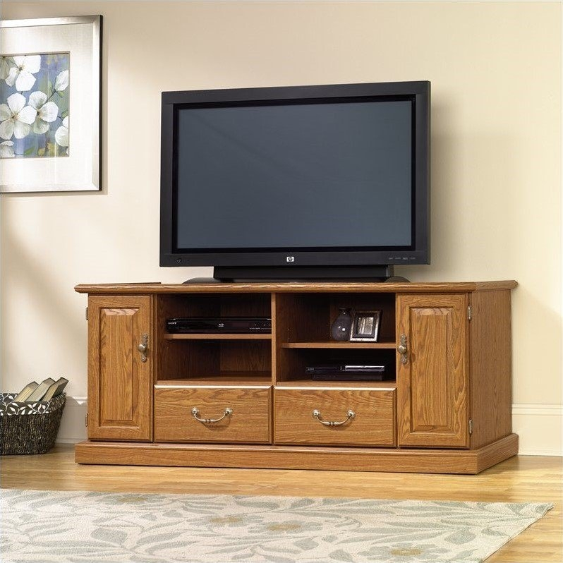 Remarkable Premium Oak TV Stands For Flat Screen Within Wood Tv Stand In Carolina Oak Finish (View 2 of 50)