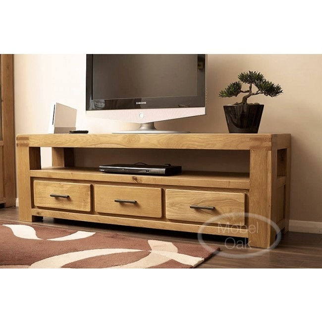 Remarkable Premium Oak TV Stands With Oslo Rustic Oak Large Tv Stand Cabinet Best Price Guarantee (Image 39 of 50)