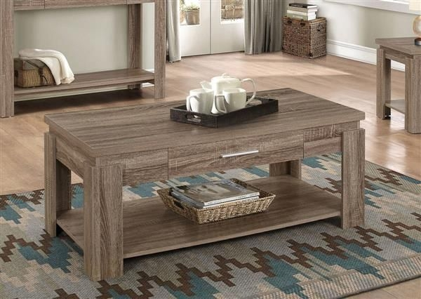 Remarkable Premium Rustic Coffee Tables With Bottom Shelf With Regard To 916 Best Acme Furniture Images On Pinterest (View 27 of 50)