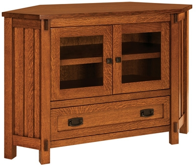 Remarkable Premium Rustic Corner TV Stands Regarding Fabulous Small Corner Tv Stand Rustic 2 Door Corner Tv Stand Home (View 34 of 50)