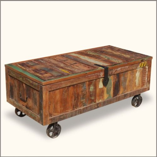Remarkable Premium Rustic Storage DIY Coffee Tables Pertaining To Coffee Table Glamorous Storage Trunk Coffee Table Rustic Trunk (Image 39 of 50)
