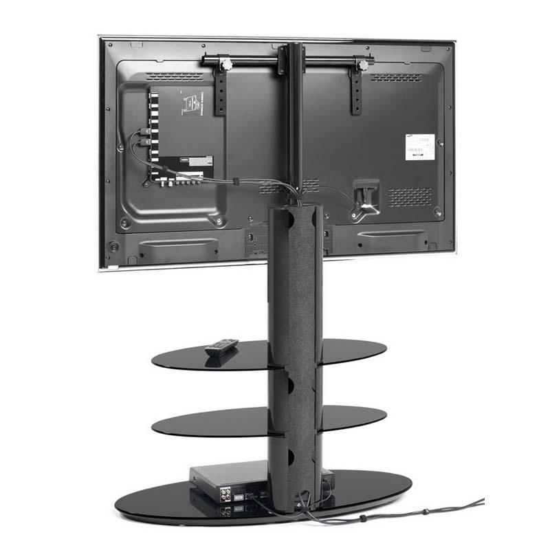 Remarkable Premium Techlink Corner TV Stands Within Techlink Strata 3 Shelf 50 Inch Corner Tv Stand With Integrated Tv (Image 42 of 50)