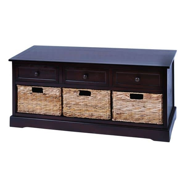 Remarkable Premium TV Stands With Baskets Throughout Cabinet With 4 Vertical Wicker Baskets Free Shipping Today (Image 40 of 50)