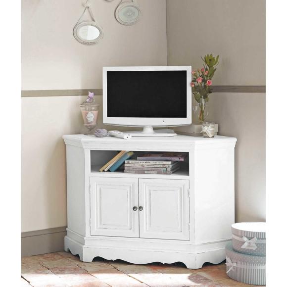 Remarkable Premium White Wood Corner TV Stands In Tv Stands 10 Decorative Ideas For Corner Tv Stands Corner Tv (Photo 17 of 50)